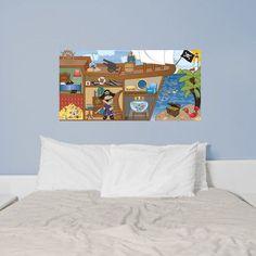 Mona Melisa Designs Pirate Boy Hanging Wall Mural Hair Color: Brown, Eye Color: Brown, Skin Shade: Dark