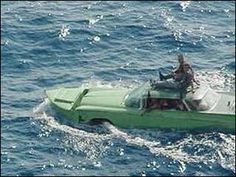 1959 Buick car boat. The plan was to ditch the boat parts when they got to Florida and drive to a relative's house. They eventually got out of Cuba by other means.
