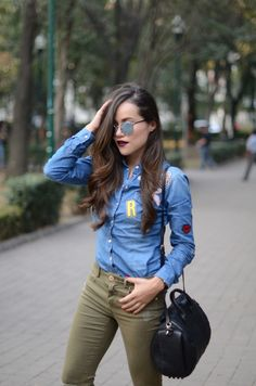 Patch denim shirt! | MODA CAPITAL