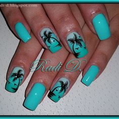palm tree nail art - Google Search