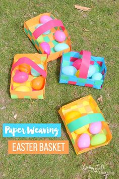 We love making creative craft activities for kids to enjoy and to expand their imaginations! In this post, we are looking at some really fun way to make a paper weaving easter basket. Easter Activities, Preschool Crafts, Activities For Kids, Spring Activities, Kindergarten Activities, Preschool Learning, Classroom Activities, Preschool Activities, Teaching