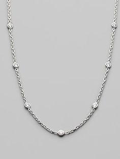 Roberto Coin Diamond & 18K White Gold Necklace $2600.00