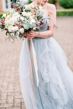 Romantic Floral Bridal Bouquet by Fallen Flower Design | Dreamy Bridal Inspiration at Great Lodge in Essex | Kathryn Hopkins Fine Art Photography