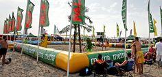 Beach volleybal court, Hoek van Holland (The Netherlands)