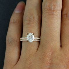 Forever Brilliant Oval Cut Solitaire Engagement Ring by OhKuol