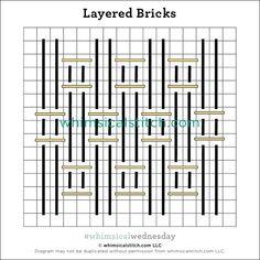 Needlepoint Stitches, Embroidery Stitches, Needlework, Something Borrowed, Something Blue, Stitch 2, Brick Stitch, Straight Stitch, Color Lines