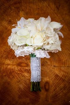 Simple yet stunning... (Bouquet by Party Artistry, Photo by Joshua Zuckerman Photography) #sparkle