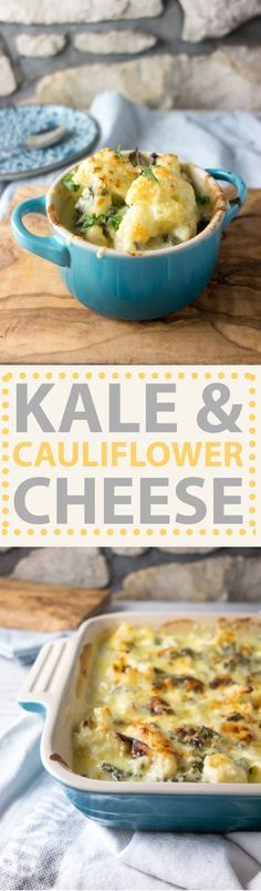 Kale Cauliflower Cheese: perfect autumn comfort food that won't leave you in a food coma!