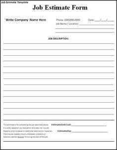 Price Quotation Form Template Without Tax Calculation  Quotation