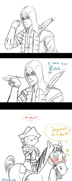 """Relevant to my interests indeed! """"You're mine bitch."""" by *thelizangel on deviantART Assassins Creed Memes, Assassin's Creed I, Youre Mine, Video Game Characters, Anime, Nerdy, Fan Art, Deviantart, Kawaii"""