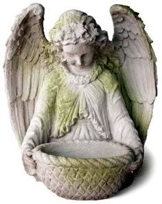 Garden Angel Outdoor Religious Garden Statue Statuary Made of Faux Concrete/Stone. Available in Ten Outdoor Friendly Finishes. On Sale at AllSculptures.com