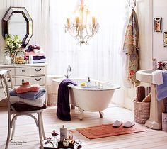 white wood floors in bathroom
