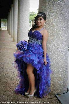 Short blue quince dress