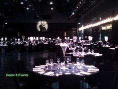 Bond themed, martini vases, crystal centerpieces, peninsula AGV