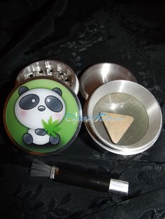 Panda Bear Weed Leaf 4 Piece Herb Grinder Pollen Screen and Catcher Punk, Emo, Rock, Rockabilly, Horror, Wicca and much more can be found in my lil' creations! Art For Life accessories are created with lots of love and inspiration! I strive to provide the highest quality products! Our images are...