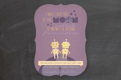 Simple cheesy and sweet! Infinity & Beyond by Dawn Jasper at minted.com