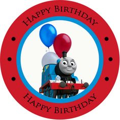 Thomas the Train Personalized Birthday Stickers : Zen Cart!, The ...