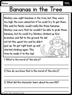Free Reading Comprehension Worksheets, 2nd Grade Reading Worksheets, First Grade Reading Comprehension, Phonics Reading, Kindergarten Reading, Teaching Reading, Reading Response, Reading Skills, Guided Reading