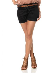 Shorts with heels-- not sure I could pull it off, but I like it