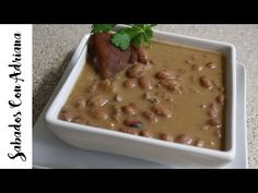 Como hacer unos Frijoles Paisas Colombianos - Sabados Con Adriana - YouTube My Colombian Recipes, Colombian Food, Beans, Appetizers, Cooking Recipes, Pudding, Vegetables, Desserts, Youtube