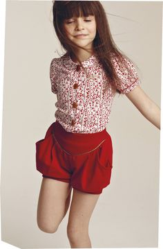 INSPIRATION: knickerbocker glory shorts - no added sugar (also the girl's hair)