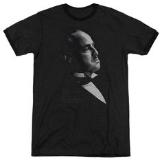 Godfather Graphic Vito Black Ringer T-Shirt