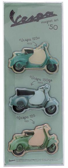 VESPA 1950S MAGNET SET $15.00 #vespa #housewares #magnets #1950s #retro #vintage