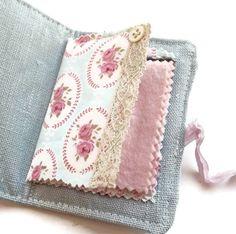 Shabby Chic Linen Needle Case