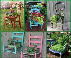 chairs with plants - Google Search