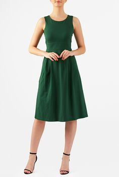 I <3 this Banded waist cotton knit dress from eShakti
