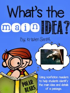 help students find the main idea and details in nonfiction passages-- includes a freebie!!