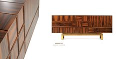 "Beautiful. Contemporary Wood Sideboard ""Moduler"" by Malabar"