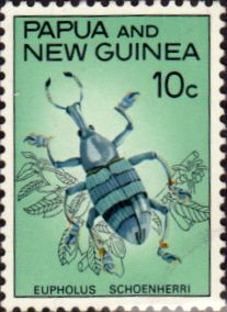 Papua New Guinea 1967 Fauna Conservation Beetles SG 110 Fine Used Scott 238 Other Papua Stamps HERE