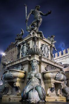 Neptune Fountain, Bologna, Emilia-Romagna, Italy