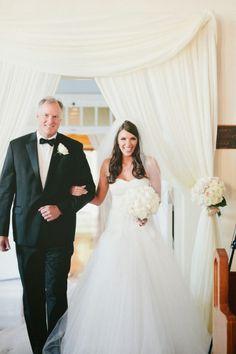 Retired NFL Father: http://www.stylemepretty.com/2015/01/29/favorite-nfl-weddings/