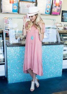 Day Dreamer Dress Rose - Modern Vintage Boutique