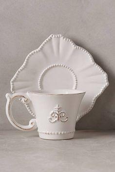 Fleur De Lys Cup & Saucer