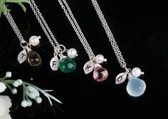 Bridesmaid jewelry personalized with initials