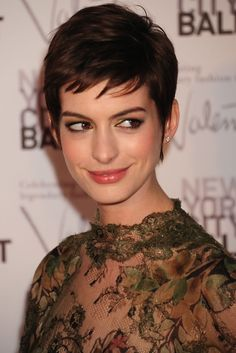 try one of fall s hottest new haircuts anne hathaway pixie anne