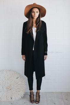 elena coat - black|
