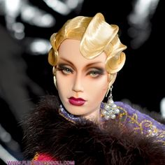 ART DECO PATTART WIG FOR SYBARITE NUMINA JAMIESHOW AVANT GUARD DOLLS - Fleurdelysdoll 1920s Glamour, Glamour Dolls, Barbie Hair, Doll Hair, Beautiful Barbie Dolls, Pretty Dolls, Roaring 20s Fashion, Human Doll, Face Images