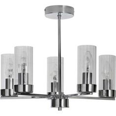 Buy Heart of House Wallis 5 Light Ceiling Fitting - Chrome at Argos.co.uk - Your Online Shop for Ceiling and wall lights.