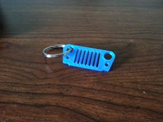 3D Printed Jeep Wrangler Grill Keychain