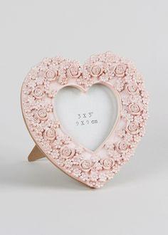 Flower Heart Photo Frame (9cm x 9cm)
