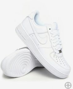 new styles 4bd18 1e493 Nike Air Force Low 1 Size Kids 3 Ropa Urbana, Zapatos Blancos, Zapatos Nike