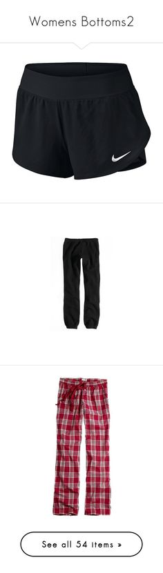 """""""Womens Bottoms2"""" by kate-loves-fashion ❤ liked on Polyvore featuring activewear, activewear shorts, nike, nike activewear, nike sportswear, activewear pants, pants, bottoms, sweatpants and sweats"""