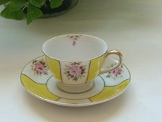 ****Vintage UCAGCO teacup and saucer made in Occupied Japan
