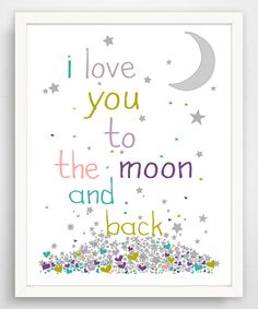 Another great find on #zulily! Purple 'To the Moon and Back' Giclée Print by Finny and Zook #zulilyfinds