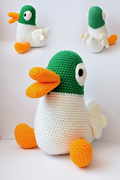 Agnieszka Mężyk, Szydełkowe Stwory, Kaczorek www.polandhandmade.pl #polandhandmade #crochet #amigurumi