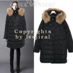 Raccoon Fur Hood Parka Coat
